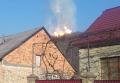 Столб дыма и огня на месте прорыва газопровода. Видео