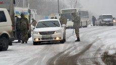 Контрольно-пропускной пункт в Донецкой области. Архивное фото