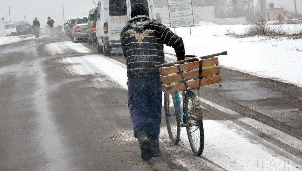 Контрольно-пропускной пункт в Донбассе