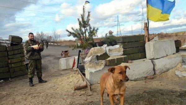 Блокпост в зоне проведения АТО в Донецкой области