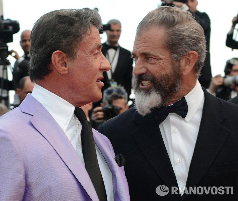 Актеры Сильвестр Сталлоне (слева) и Мел Гибсон