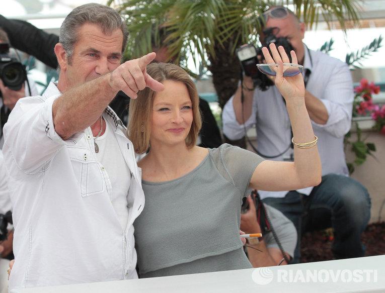 Актеры Джоди Фостер и Мел Гибсон