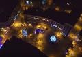 Праздничный Ивано-Франковск с высоты птичьего полета. Видео