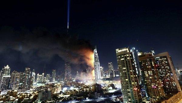 Пятизвездочный отель Address Downtown, который горел в Дубае в новогоднюю ночь