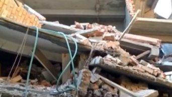 Землетрясение в Индии. Видео
