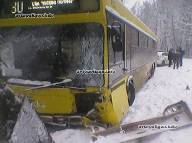 Авария киевского автобуса в Пуще-Водице