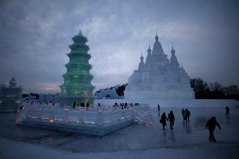 Ледовые и снежные скульптуры в Харбине