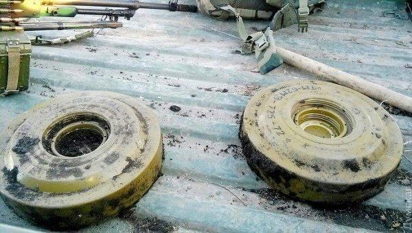 Противотанковые мины, обезвреженные в зоне АТО
