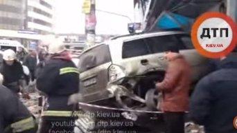 Авария на станции Левобережная в Киеве