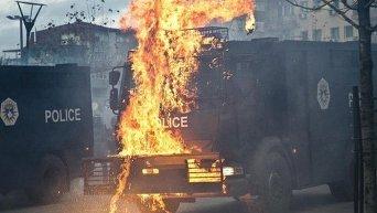 Беспорядки и столкновения с полицией в Косово