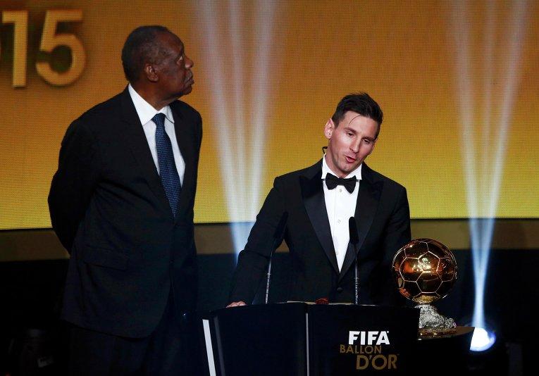 Церемония вручения Золотого мяча-2015