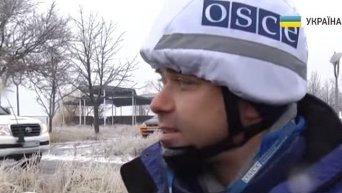 Установка видеокамер ОБСЕ в Широкино. Видео