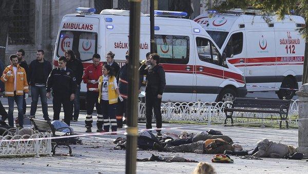 Эрдоган объявил, что взрыв вСтамбуле совершил сирийский террорист-смертник