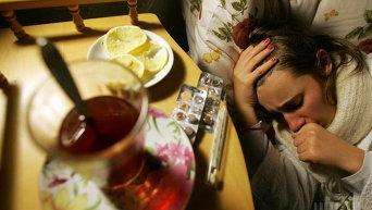 Заболевшая гриппом
