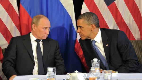 Президент РФ Путин и президент США Барак Обама. Архивное фото