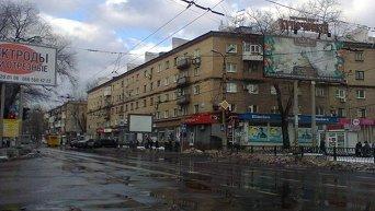 Перекресток пр. Мира и ул. Университетской. Донецк