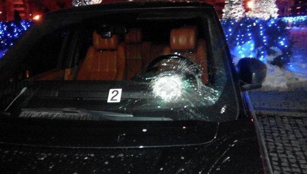 Нападение на авто нардепа Сергея Рыбалки