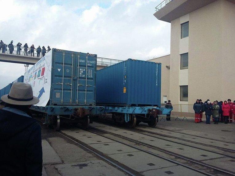 Запуск поезда по новому Шелковому пути из Украины в Китай
