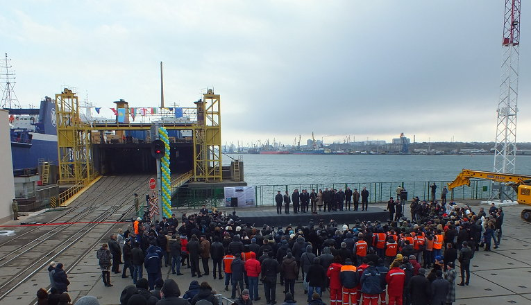 Запуск поезда по новому Шелковому пути из Украины в Китай.