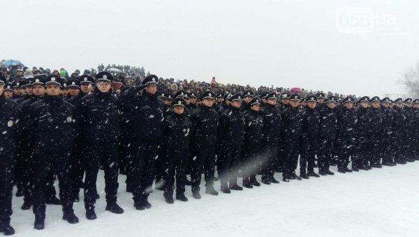 Присяга патрульных полицейских в Днепропетровске