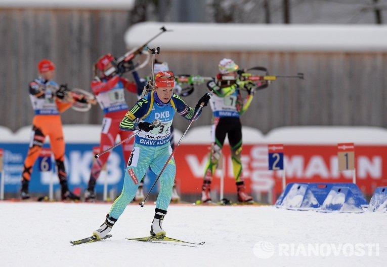 Украинская биатлонистка Юлия Джима