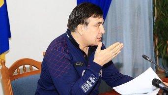 Ночное совещание Саакашвили