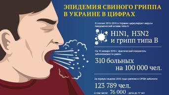 Эпидемия свиного гриппа в Украине в цифрах. Инфографика