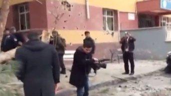 Выпущенный из Сирии снаряд разорвался во дворе школы в Турции. Видео