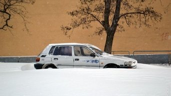 Снегопад в Украине