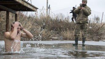 Крещение в зоне АТО в Донбассе