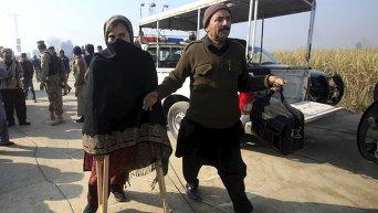 Пострадавшая преподавательница университета в городе Чарсадда (Пакистан), на который было совершено нападение