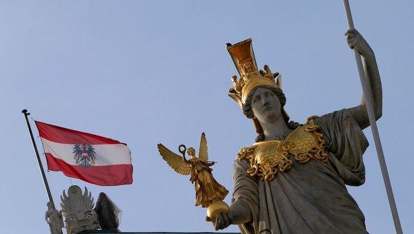 Флаг Австрии. Архивное фото