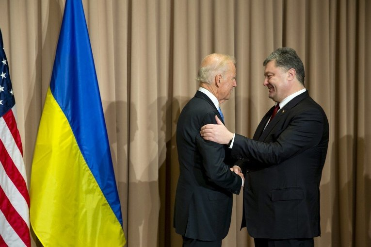 Встреча Петра Порошенко и Джо Байдена в Давосе