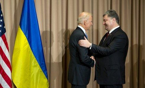 Встреча Петра Порошенко и Джо Байдена. Архивное фото