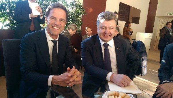 Президент Петр Порошенко и премьер-министр Нидерландов Марк Рютте