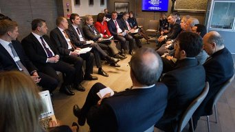 Украинские чиновники на форуме в Давосе