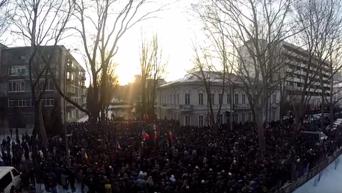 Тысячи протестующих в центре Кишинева с высоты птичьего полета. Видео