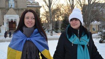 Как отмечали День соборности в разных городах Украины