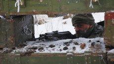 Представители ДНР на линии разграничения