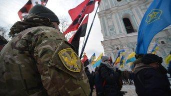 Вече в Киеве в честь Дня Соборности Украины