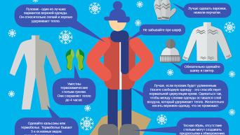 Как избежать переохлаждения в сильный мороз. Инфографика