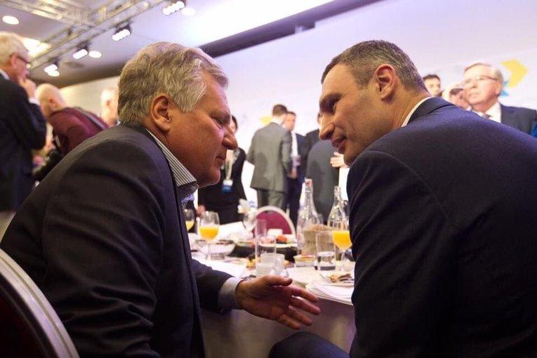 Виталий Кличко и Александр Квасьневский на форуме в Давосе