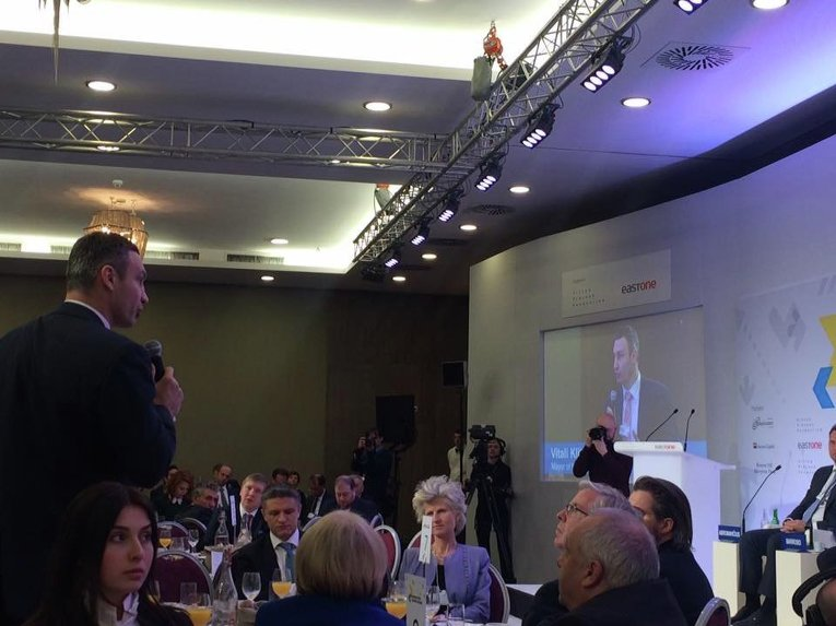 Виталий Кличко на форуме в Давосе
