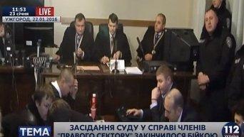Потасовка в ужгородском суде