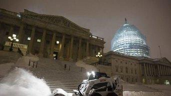 Снегопады в США