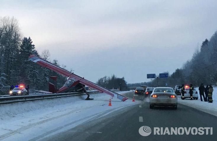 Жесткая посадка легкомоторного самолета в Московской области