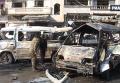 Двойной теракт в сирийском Хомсе. Видео