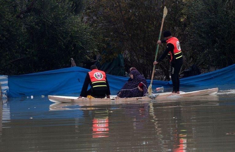 Наводнение на юге Сектора Газа.