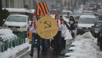 Акция протеста пионеров под Министерством культуры