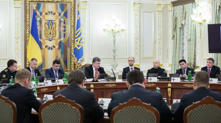 Петр Порошенко во время заседания СНБО Украины, 27 января 2016 года